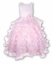NEW Sarah Louise Pink Ballerina Gown with Tiers of Ruffles