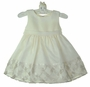 NEW Cinderella Ivory Satin Sleeveless Dress with Woven Ribbon Hem Accent