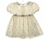 Allison Anne Ivory Lace Toddler Dress with Satin Ribbon Roses