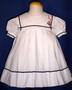 "<img src=""https://p11.secure.hostingprod.com/@grammies-attic.com/ssl/images/blue-sold-1.gif""> C. I. Castro White Pleated Sailor Dress with Anchor Insignia"
