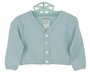 NEW Sarah Louise Blue Cardigan Sweater with Cable Stitching