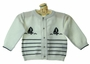 NEW Feltman Brothers White and Navy Nautical Sweater