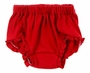 NEW Girls Red Cotton Knit Diaper Cover with Ruffled Trim