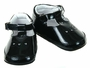 "<img src=""https://p11.secure.hostingprod.com/@grammies-attic.com/ssl/images/blue-sold-1.gif""> NEW Black Patent Leather T Strap Baby Shoes with Open Heart Trim"