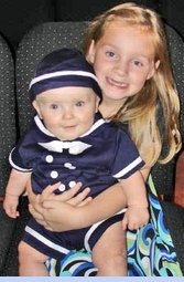 NEW Rare Editions Navy Sailor Shortall with Matching Sailor Hat (SS0719)