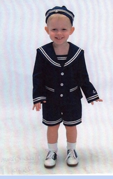 NEW Good Lad Navy Sailor Sunsuit with Jacket and Hat for Toddlers (SS0614)