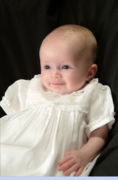 NEW Feltman Brothers Christening Gown with Lace Insertion and Embroidery (CR0579)