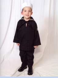 NEW Little Patriot Sailor Suit with Black Tie and White Sailor Hat  (SS0559)