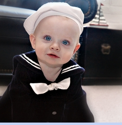 <strong>Baby Leo in Sailor Beret<strong>