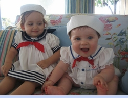 <strong>Baby Mathilda and Baby Natalya in Sailor Outfits</strong>