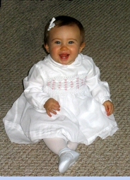 <strong>Baby Bridget in Sarah Louise Smocked Dress</strong>