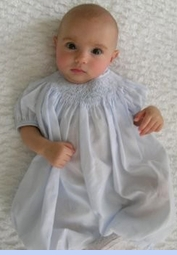 <strong>Baby Ali in Classic Smocked Bubble</strong>