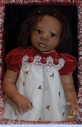 NEW Rare Editions Red Velvet Baby Dress with White Organdy Skirt with Red Rosebuds (HOC0723)