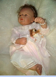 <strong>Baby Doll Maria in Heirloom Early 1900s Gown