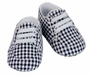 NEW Sarah Louise Navy Checked Shoes with Stretch Laces