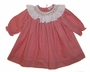 "<img src=""https://p11.secure.hostingprod.com/@grammies-attic.com/ssl/images/blue-sold-1.gif""> NEW Petit Ami Red Checked Bishop Smocked Baby Dress with White Ruffled Collar"