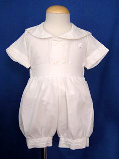 """<img src=""""https://p11.secure.hostingprod.com/@grammies-attic.com/ssl/images/blue-sold-1.gif""""> Boy's Heirloom Style White Sailor Suit with Knickers"""