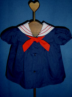 "<img src=""https://p11.secure.hostingprod.com/@grammies-attic.com/ssl/images/blue-sold-1.gif""> Little Precious Tiny Navy Blue Sailor Dress with White Collar for Newborn Girls"