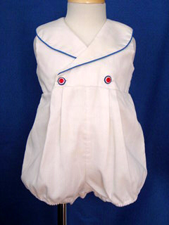 "<img src=""https://p11.secure.hostingprod.com/@grammies-attic.com/ssl/images/blue-sold-1.gif""> Grace White Sleeveless Sailor Bubble with Red Stars for Baby Girls"