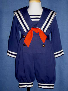 "<img src=""https://p11.secure.hostingprod.com/@grammies-attic.com/ssl/images/blue-sold-1.gif""> Charley's Boy Vintage Style Sailor Suit with Knickers"