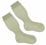 "<img src=""http://site.grammies-attic.com/images/blue-sold-1.gif""> NEW Carlino Ivory Cotton Knee Socks with Scalloped Cuffs"