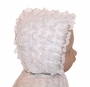 NEW White Baby Bonnet with Lacy Ruffles and White Bows