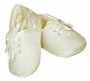 NEW Sarah Louise Boys Ivory Satin Christening Shoes with Eyelet Laced Ties
