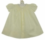 NEW Hand Embroidered Pale Yellow Smocked Daygown