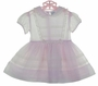 Heirloom 1950s Nannette Lavender Organdy Dress with Lace Trim