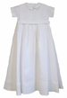 "<img src=""https://p11.secure.hostingprod.com/@grammies-attic.com/ssl/images/blue-sold-1.gif""> NEW Amacello White Linen Christening Romper with Button On Overskirt"