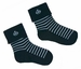 NEW Carlino Dark Navy Striped Socks with Boats
