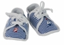 NEW Blue Striped Nautical Shoes with Lighthouse and Sailboat Embroidery