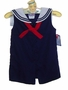 NEW Petit Ami Navy Sleeveless Sailor Romper