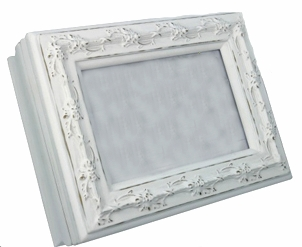 "<img src=""https://p11.secure.hostingprod.com/@grammies-attic.com/ssl/images/blue-sold-1.gif""> NEW White Keepsake Wooden Box with Picture Frame"