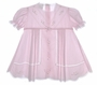 "<img src=""https://p11.secure.hostingprod.com/@grammies-attic.com/ssl/images/blue-sold-1.gif""> NEW Garden of Angels Pale Pink Pleated Baby Dress with Lace Insertion and Embroidery"