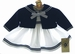 "<img src=""https://p11.secure.hostingprod.com/@grammies-attic.com/ssl/images/blue-sold-1.gif""> NEW Good Lad White Sleeveless Sailor Dress with Navy Bolero Style Sweater"
