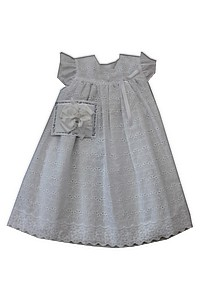 NEW Chabre White Eyelet Pinafore Style Portrait Dress