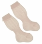 NEW Carlino Pink Cotton Knee Socks with Scalloped Cuffs