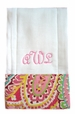 "<img src=""https://p11.secure.hostingprod.com/@grammies-attic.com/ssl/images/blue-sold-1.gif""> NEW Custom Monogrammed Baby Burp Cloth with Capri Pink or Capri Blue Trim"