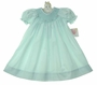 NEW Petit Ami Pale Green Bishop Smocked Baby Dress