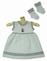 "<img src=""https://p11.secure.hostingprod.com/@grammies-attic.com/ssl/images/blue-sold-1.gif""> NEW Will'Beth White Cotton Knit Sailor Dress with Matching Socks and Diaper Cover"