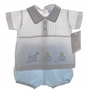 "<img src=""https://p11.secure.hostingprod.com/@grammies-attic.com/ssl/images/blue-sold-1.gif""> NEW Will'Beth Blue and White Linen Diaper Set with Train and Ducks Embroidery"
