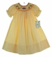 "<img src=""https://p11.secure.hostingprod.com/@grammies-attic.com/ssl/images/blue-sold-1.gif""> NEW Rosalina Yellow Checked Bishop Smocked Dress with Schoolbus Embroidery"