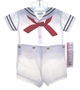 "<img src=""https://p11.secure.hostingprod.com/@grammies-attic.com/ssl/images/blue-sold-1.gif""> NEW C. I. Castro Boy's White Button On Sailor Suit for Baby Boys"
