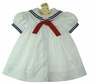 NEW C. I. Castro White Sailor Dress for Baby Girls
