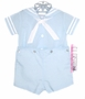 "<img src=""https://p11.secure.hostingprod.com/@grammies-attic.com/ssl/images/blue-sold-1.gif""> NEW C. I. Castro Light Blue Button On Sailor Suit for Toddler Boys"