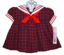 NEW C. I. Castro Red Plaid Sailor Dress for Baby Girls