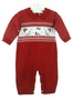 "<img src=""https://p11.secure.hostingprod.com/@grammies-attic.com/ssl/images/blue-sold-1.gif""> NEW Will'Beth Red Knit Romper with Holiday Bears"