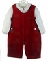 "<img src=""http://site.grammies-attic.com/images/blue-sold-1.gif""> NEW Carriage Boutiques Red Velvet Shortall with White Shirt"
