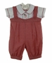 "<img src=""https://p11.secure.hostingprod.com/@grammies-attic.com/ssl/images/blue-sold-1.gif""> NEW Will'Beth Red and White Checked Romper with Holiday Embroidery"